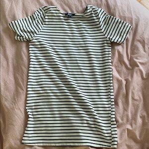 Striped t-shirt dress
